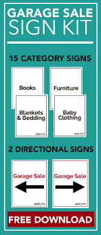 Make A For Sale Sign Garage Sale Sign Kit Free Download Garage Sale Signs