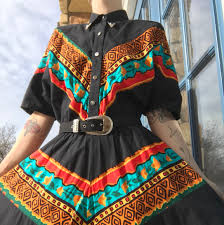 Gorgeous Lilia Smith 80s western cowgirl dress.... - Depop