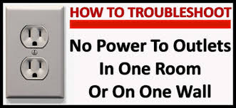 no power to outlets in one room or wall how to troubleshoot