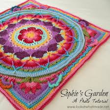 Free Crochet Mandala Pattern Gorgeous Sophie's Garden Photo Tutorial