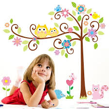 owls tree removable wall sticker decal baby nursery wall decor