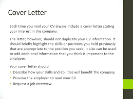What Should A Cover Letter Include For A Resume What Does A Good