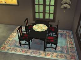 mid century modern dining and style set sims 3 download. asian dining furniture a sims 3 to 4 conversion plus some recolors by me download mid century modern and style set download