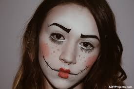 diy doll makeup