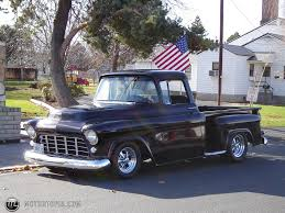 old trucks | Photo of a 1955 Chevrolet pickup short box (just an ...