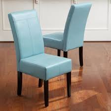 blue dining room chairs. T-stitch Teal Blue Leather Dining Chairs (Set Of 2) By Christopher Knight Room I
