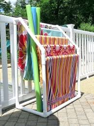 pool towel drying rack racks towels and for area stand towel rack