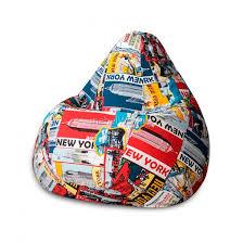 <b>Кресло</b>-<b>мешок DreamBag</b> XL жаккард <b>New York</b> - купить по цене ...