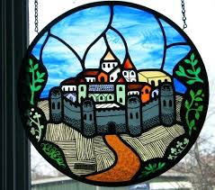 old stain glass window stained glass the meval city stained glass window designs home