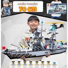 LẮP RÁP LEGO THUYỀN CHIẾN CHIẾN HẠM TUẦN TRA 112 SIÊU TO KHỔNG LỒ 70CM  ENLIGHTEN DC88H2712