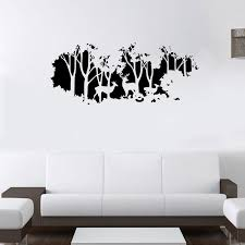 extra large deer in the forest wall art
