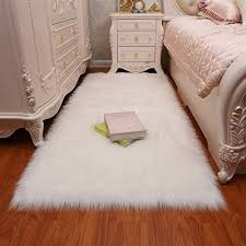 details about faux sheepskin fur snow white bright white 4 x6 nursery area rug