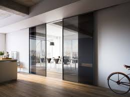 mitika bi parting sliding doors with smoked glass