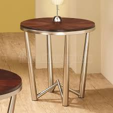 wood metal end table end tables designs wood round metal end table occasional table set roud