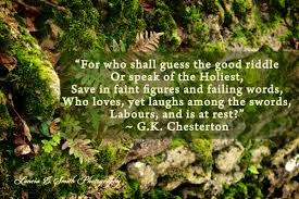 gk chesterton malcolm guite the good riddle gk chesterton · lanciaesmith com image for the day