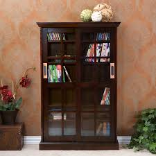 sliding door media cabinet espresso cd media storage cabinet with glass doors