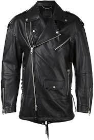 sel black gold multiple zippers biker jacket