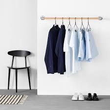 Wall mounted clothing rails Rackbuddy Rackbuddy Wallmounted Clothes Rail Rackbuddy Sebastian Rackbuddycom