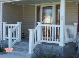 White Vinyl Porch Railing  Link To Enlarged View Of Colonial Porch Railing Pictures