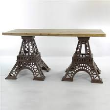 american creative personality of eiffel tower old wood tables and chairs wrought iron cafe tables custom combination