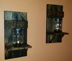 Mason Jar Candle Holders Rustic Candle Holder Mason Jar Wall Candle Holders Country