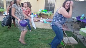 Hilarious coed baby shower game! - YouTube