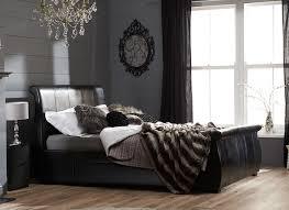Manhattan Bedroom Furniture Manhattan Black Bonded Leather Bed Frame Dreams