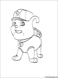 Coloring Page Rubble Paw Patrol Coloring Pages