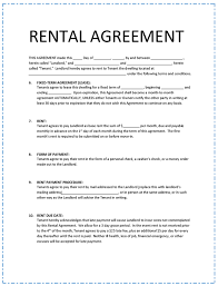 Lease Agreement Format Rental Agreement Template