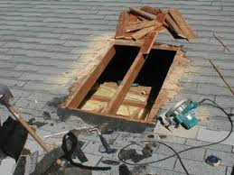 the next step was to remove the shingles in area a shovel the kind used for digging soil works best removing shingles after that i cut roof how much install skylight99