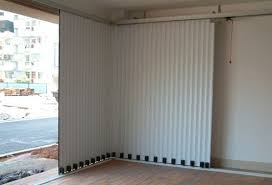 sliding garage doorsAutomatic metal sliding garage doors  white  Home Interiors