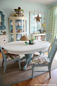 duck egg dining chairs. dining table and chairs makeover with annie sloan chalk paint, old white duck egg