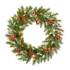 Outdoor Lighted Wreath Adorable Battery Operated Wreath Outdoor Lighted Wreath With Lights Wreaths