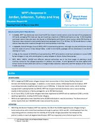 Situation Report Document WFP Regional Situation Report May 24 9