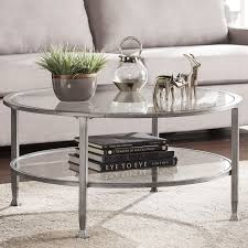 beautiful glass round coffee table and casas metal and glass round coffee table reviews birch lane