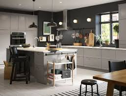 Images of kitchen furniture Blue Grey Kitchen With White And Wood Accents Ikea Kitchen Cabinets Appliances Design Ikea