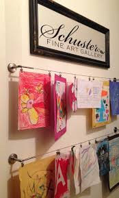 Childrens Artwork Display Getting Organized With Kids 5 Diy Projects Kids Art Galleries