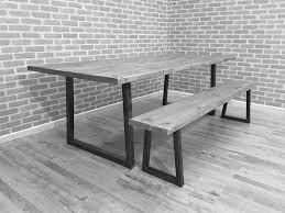 industrial wood furniture. Brinkley Grand Rustic Industrial Steel Reclaimed Wood Dining Table \u2013 Trentside Furniture R