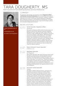 Senior Associate, Regulatory Affairs Resume samples