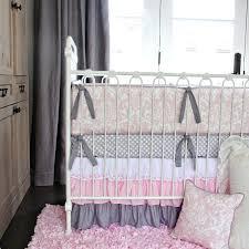 pink white lace damask ruffle crib bedding set lane best teen girl sets caden baby c