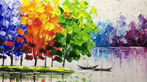 creating a landscape with a palette knife plette knife painting tutorials