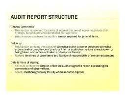 Internal Audit Report Template Executive Draft Audit Report