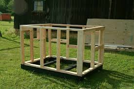 Building a Dog HouseHere the framing and uprights are together  There are stiffeners inserted in the studs kind of at random  The jacks for the front door and windows are