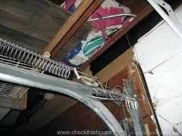 installing garage door springs properly installed garage door extension spring safety cable 1