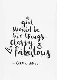 Coco Chanel Print A Girl Should Be Two Things Quote Minimalist Decor