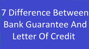 7 Difference Between Bank Guarantee And Letter Of Credit Youtube