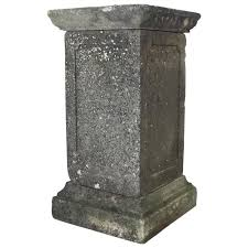 garden pedestal. tall english garden stone pedestal for sale i