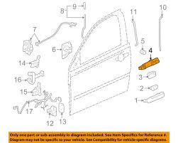 gm oem lock rear door handle base right 20795369