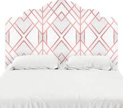 rose gold geo headboard decal twin on headboard wall decal twin