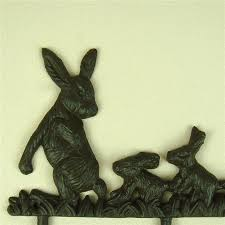 Rabbit Decorative Accessories Creative Cast Iron Rabbit Figurine Clothes Hook Decorative Metal 51